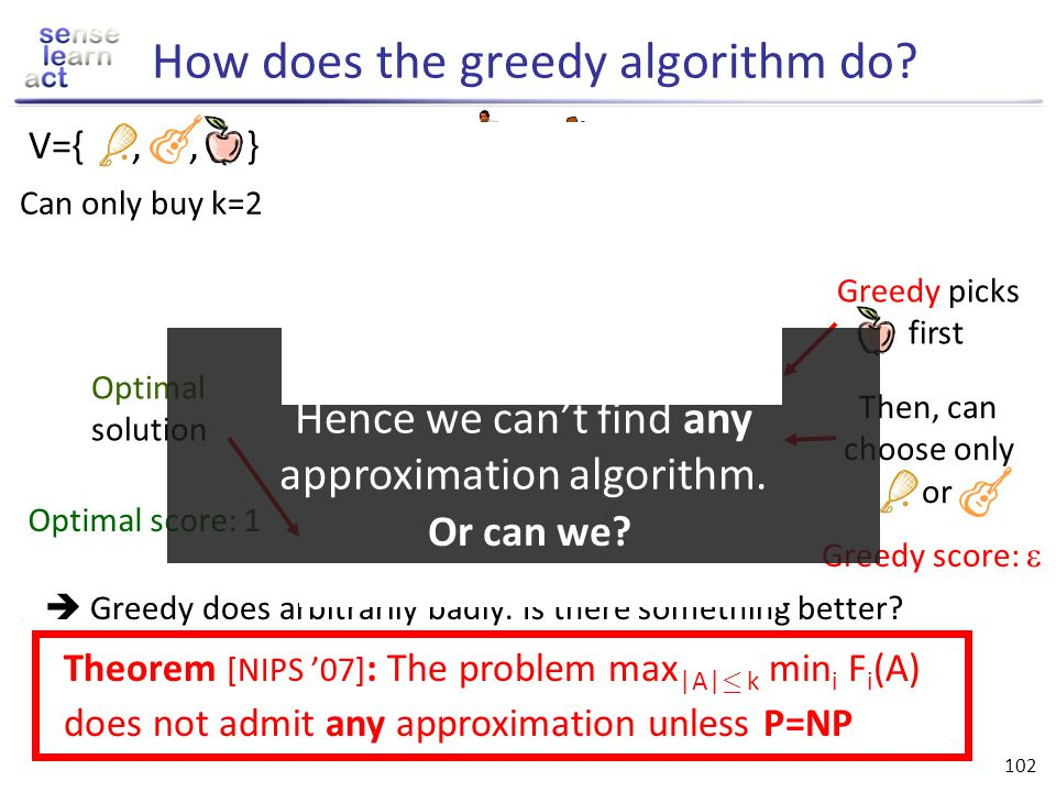How does the greedy algorithm do