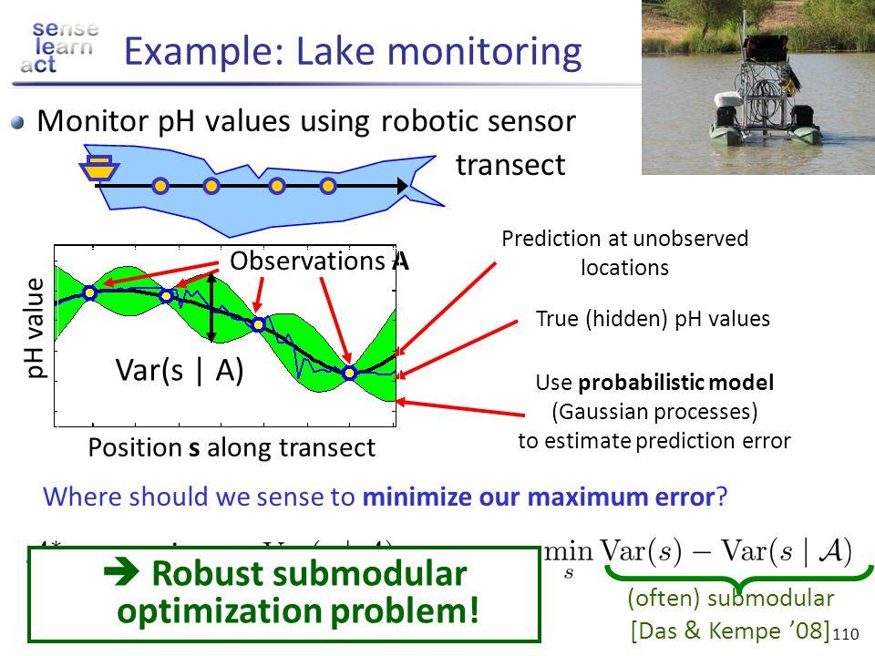 Example: Lake monitoring
