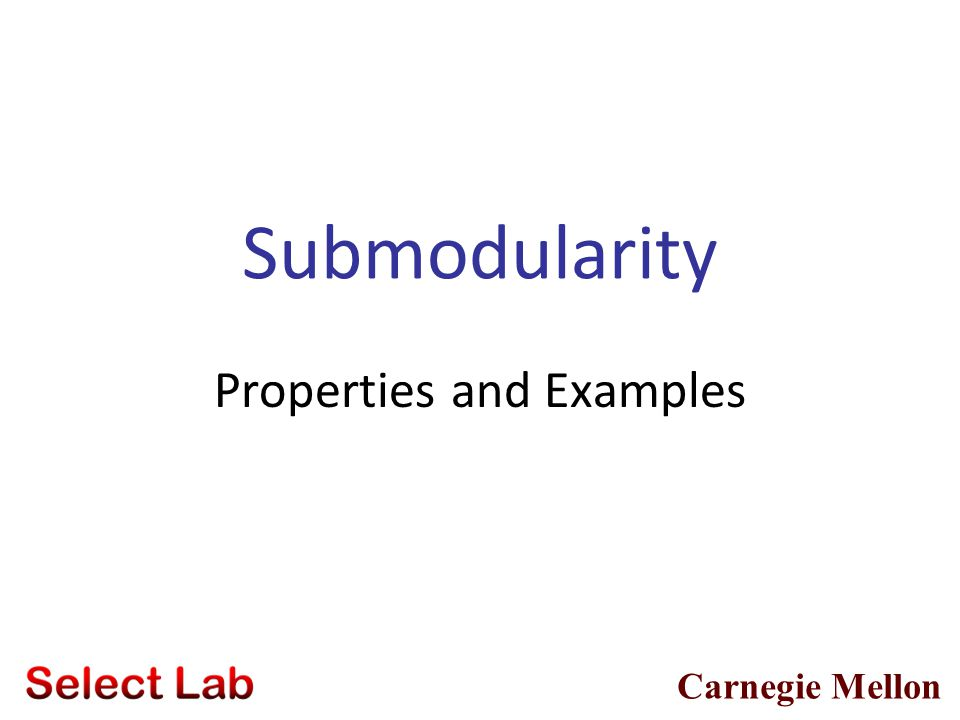 Properties and Examples
