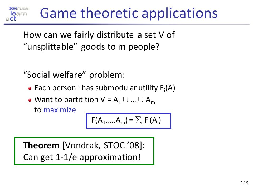Game theoretic applications