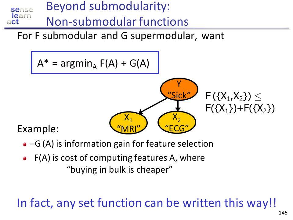 Beyond submodularity: Non-submodular functions