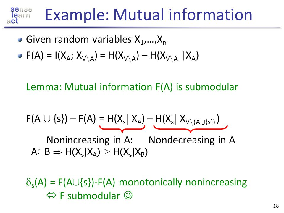 Example: Mutual information