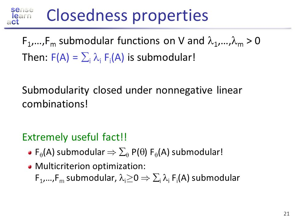 Closedness properties