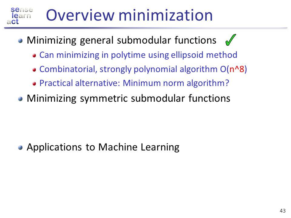 Overview minimization