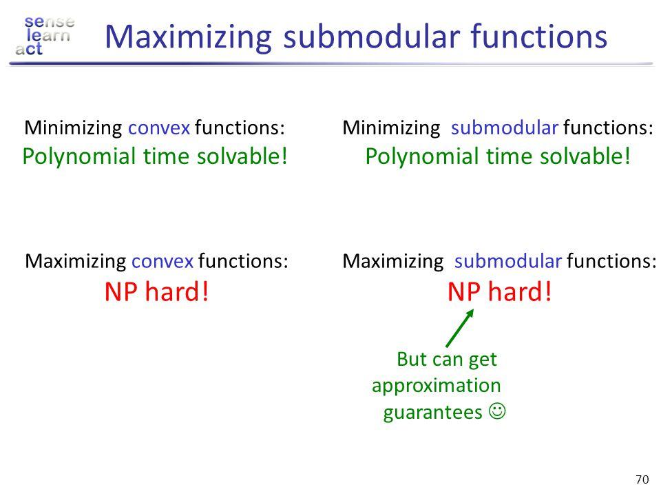 Maximizing submodular functions