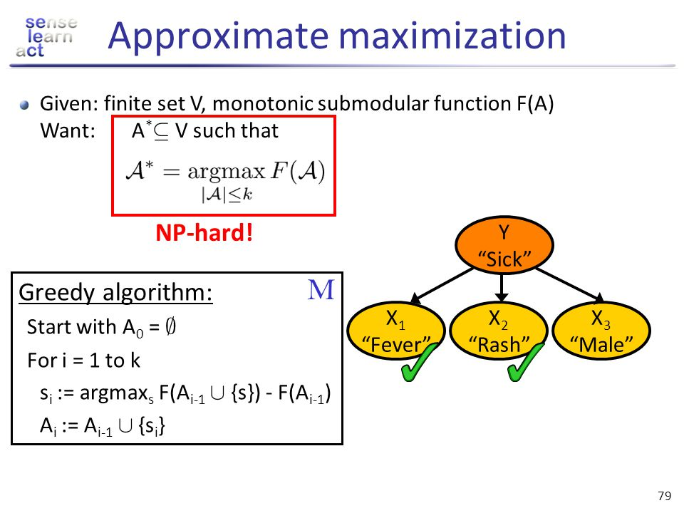 Approximate maximization