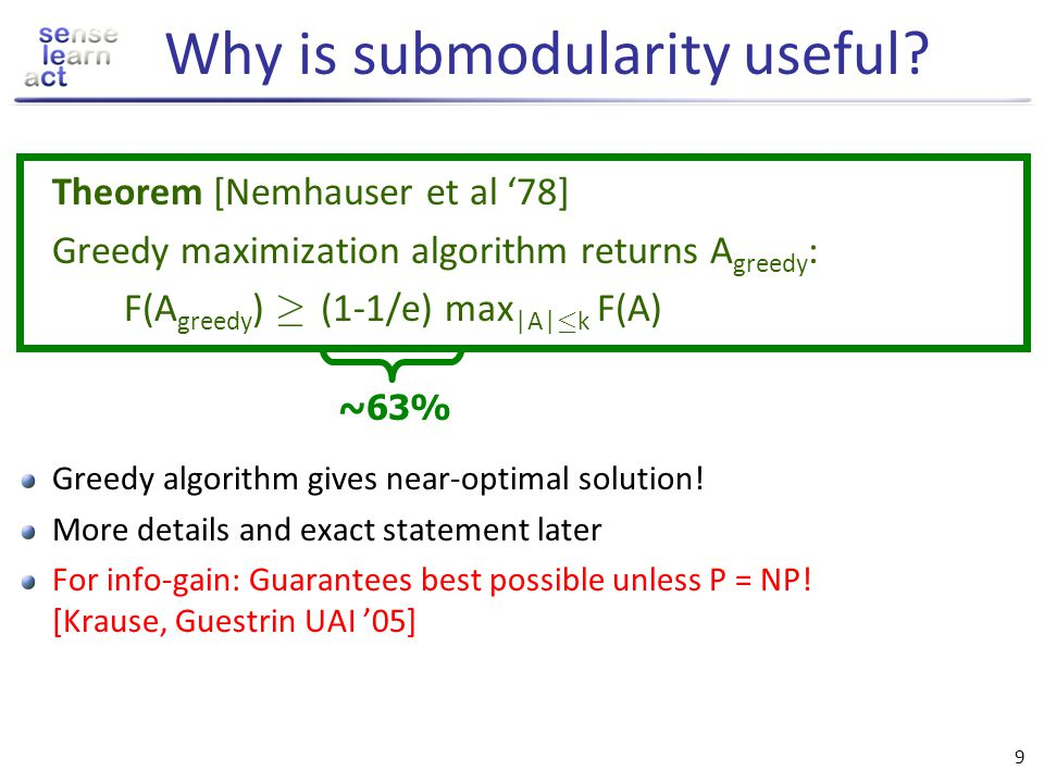Why is submodularity useful