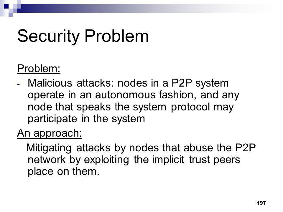 Security Problem Problem: