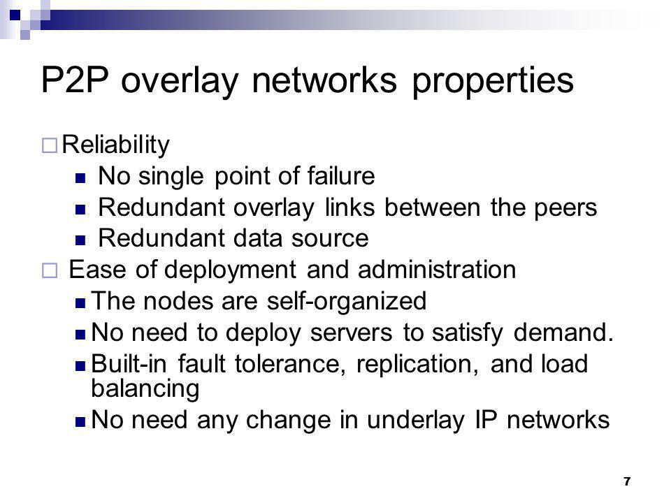 P2P overlay networks properties