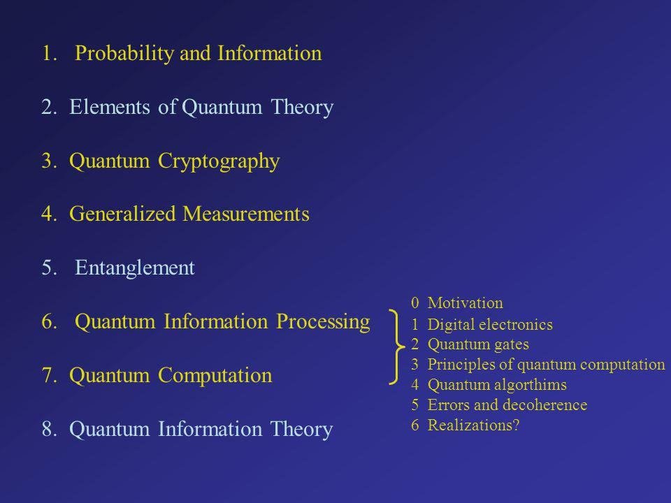Probability and Information 2. Elements of Quantum Theory