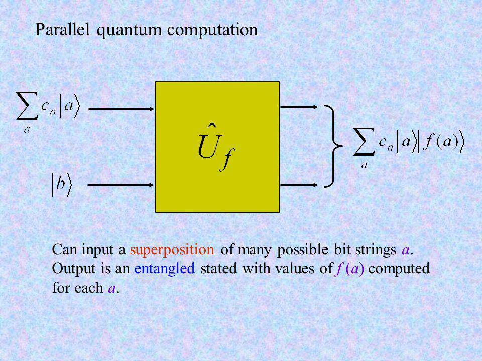 Parallel quantum computation