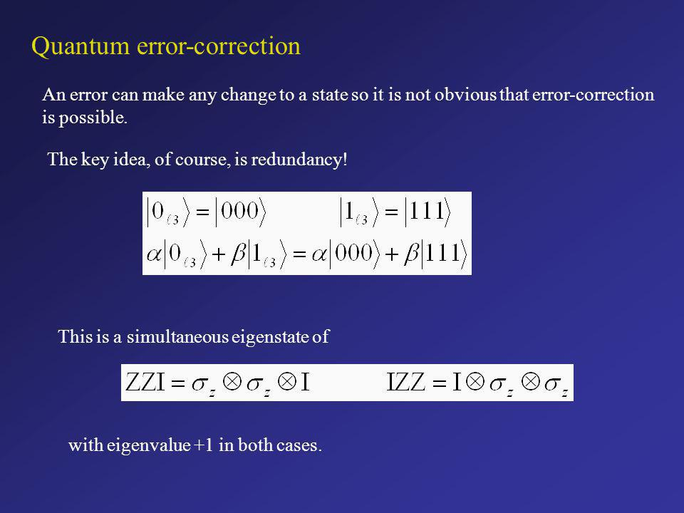 Quantum error-correction