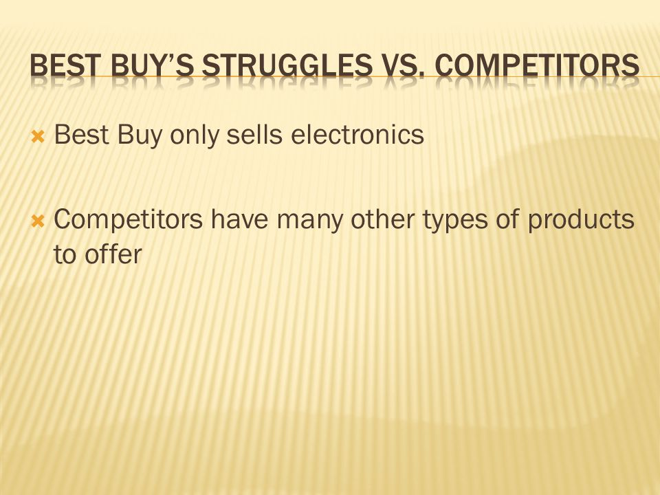 Best buy's struggles vs. competitors
