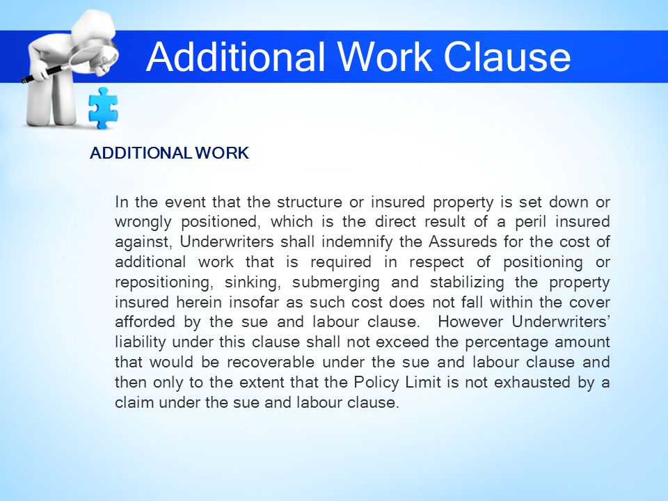 Additional Work Clause