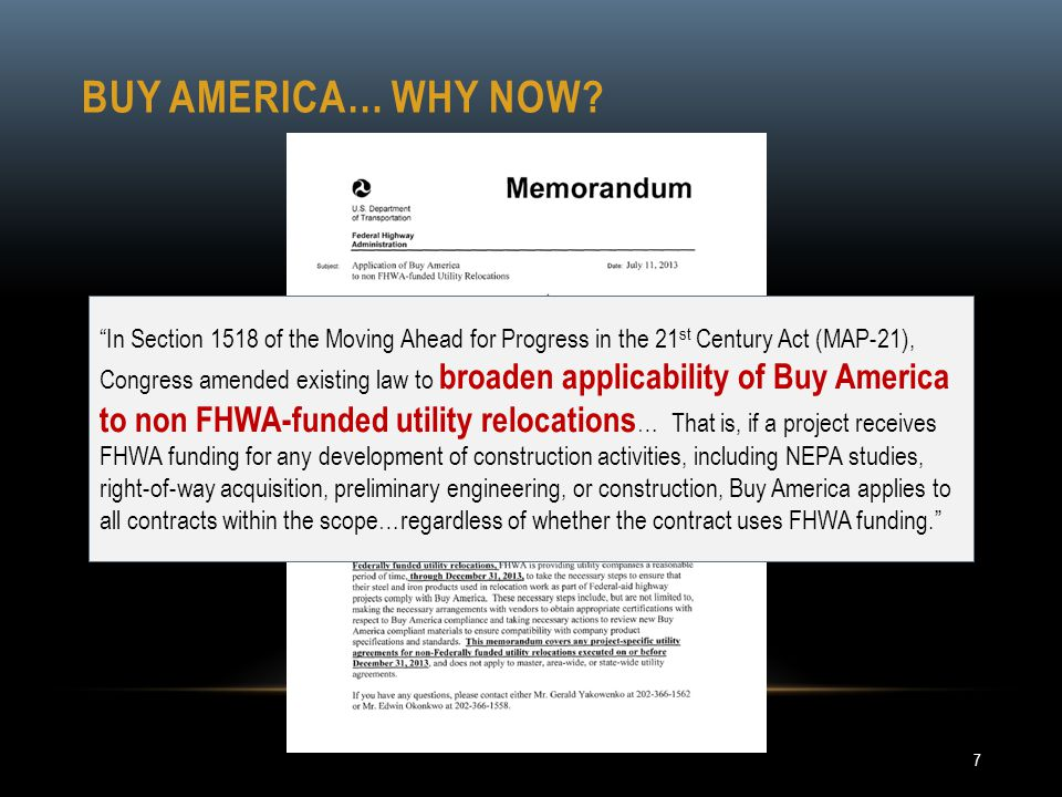 Buy America… why now