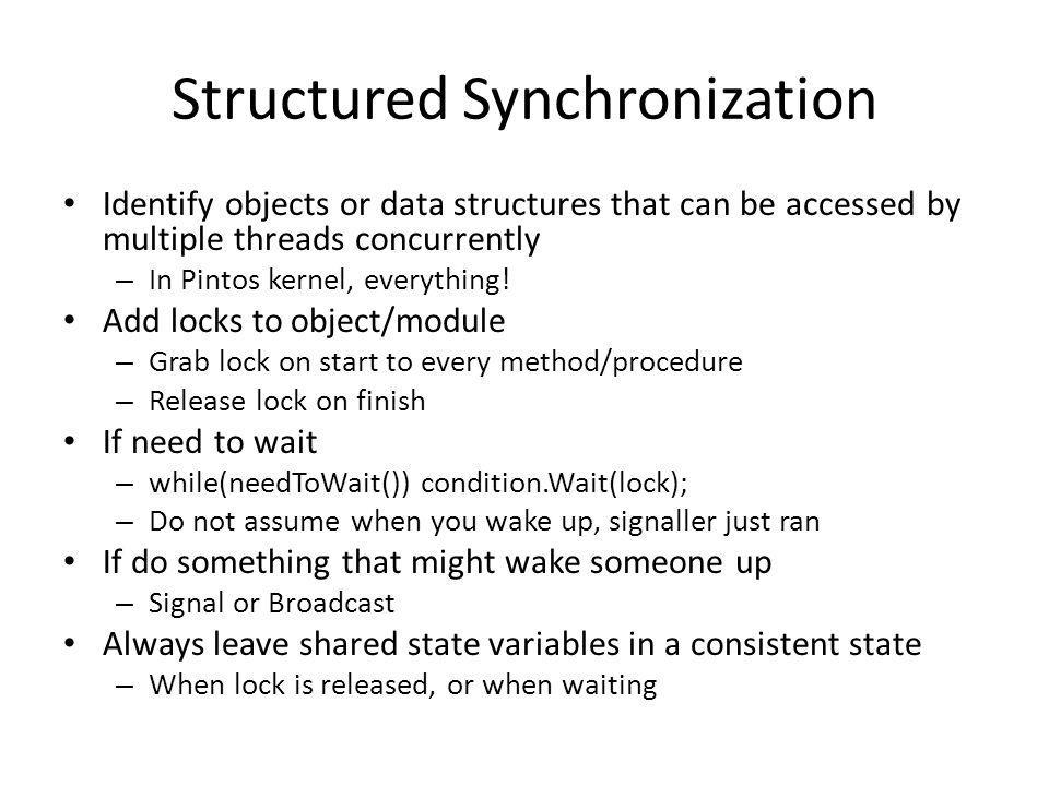 Structured Synchronization