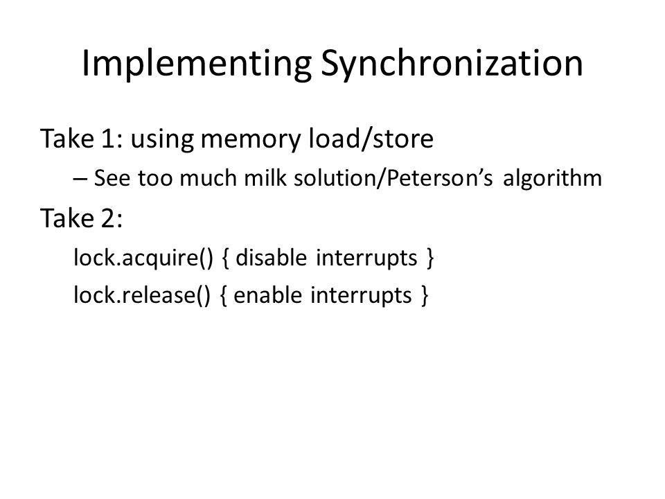 Implementing Synchronization