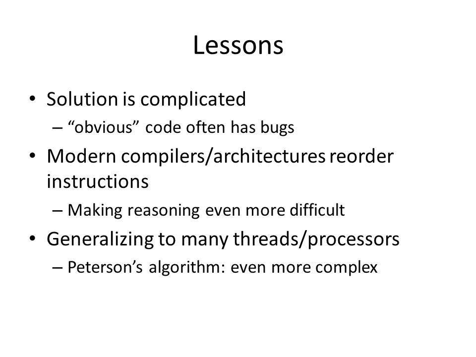 Lessons Solution is complicated