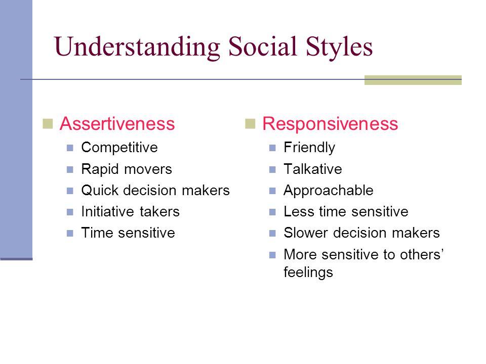 Understanding Social Styles
