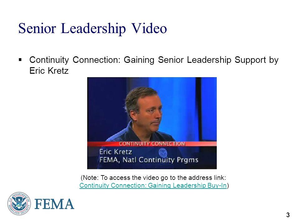 Senior Leadership Video