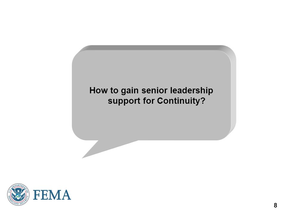 How to gain senior leadership support for Continuity