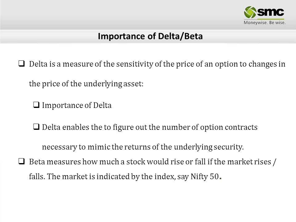 Importance of Delta/Beta