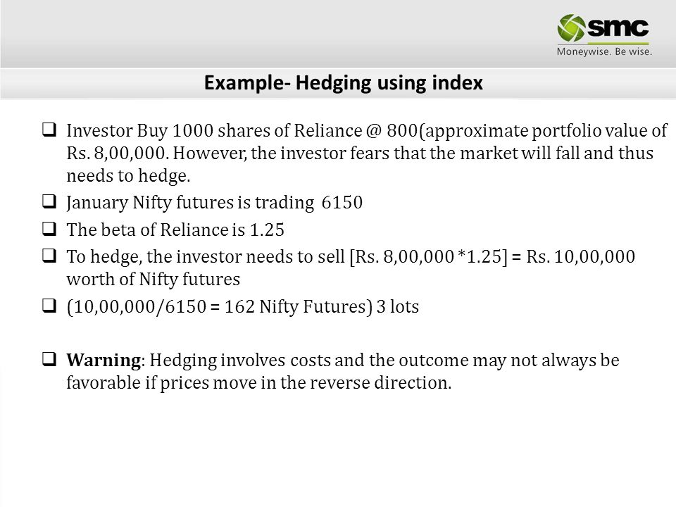 Example- Hedging using index