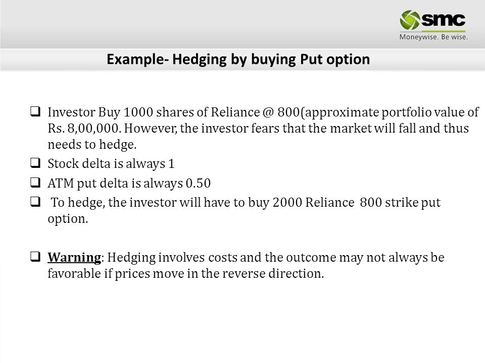 Hedging stock portfolio with options