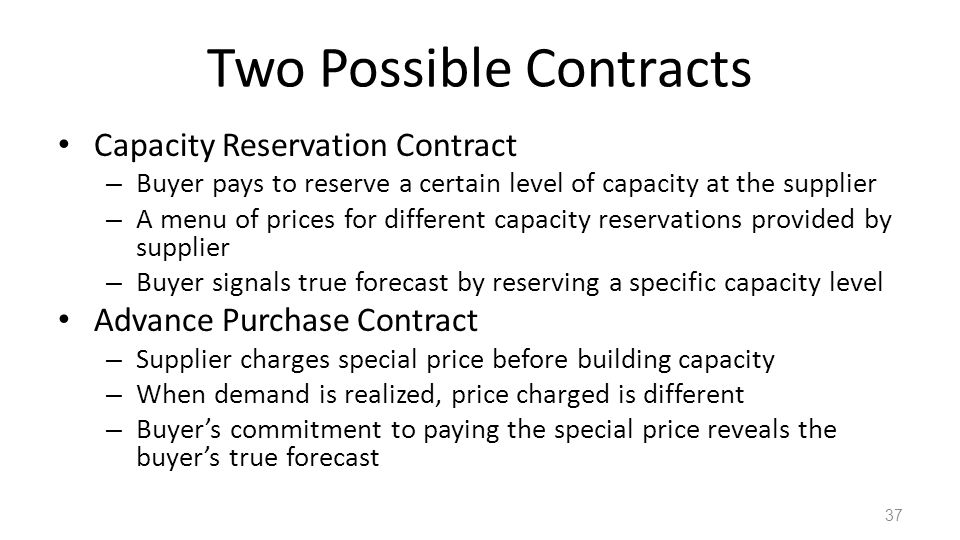 Two Possible Contracts