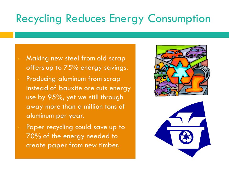 Recycling Reduces Energy Consumption
