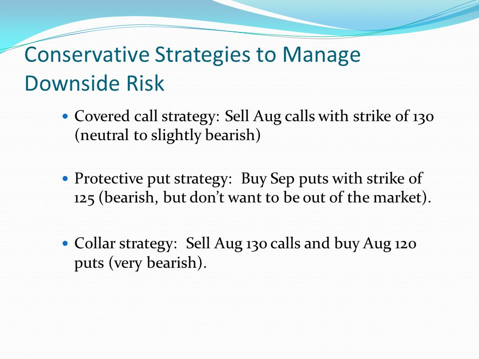 Downside protection options strategies