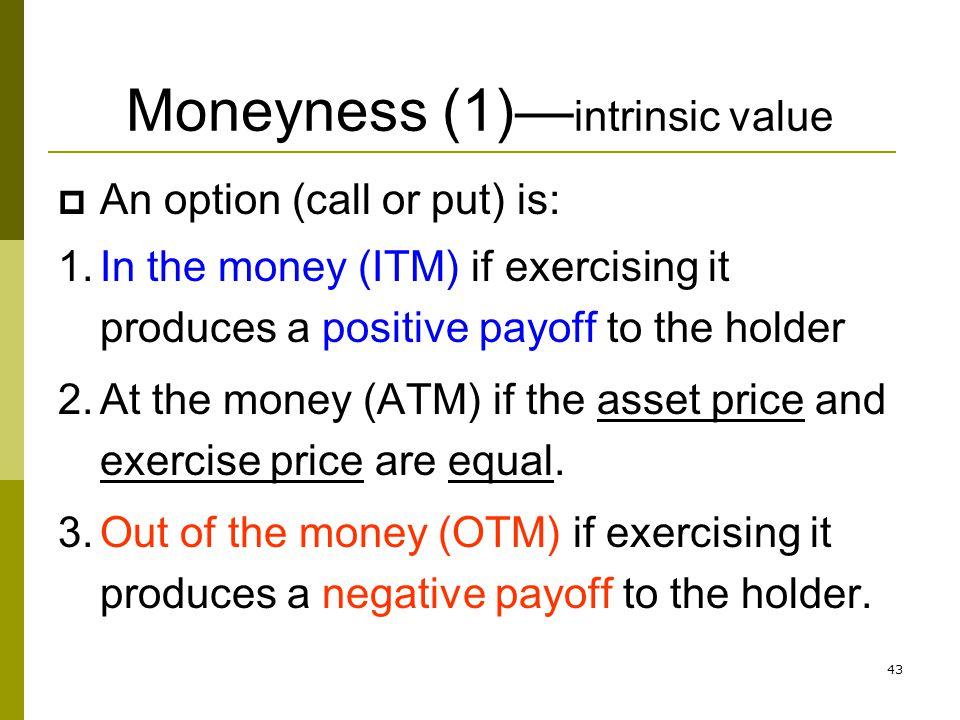 Moneyness (1)—intrinsic value