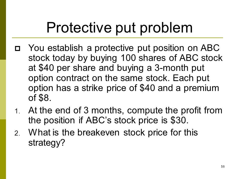 Protective put problem