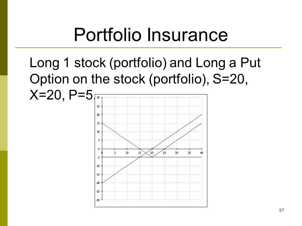 Stock options portfolio