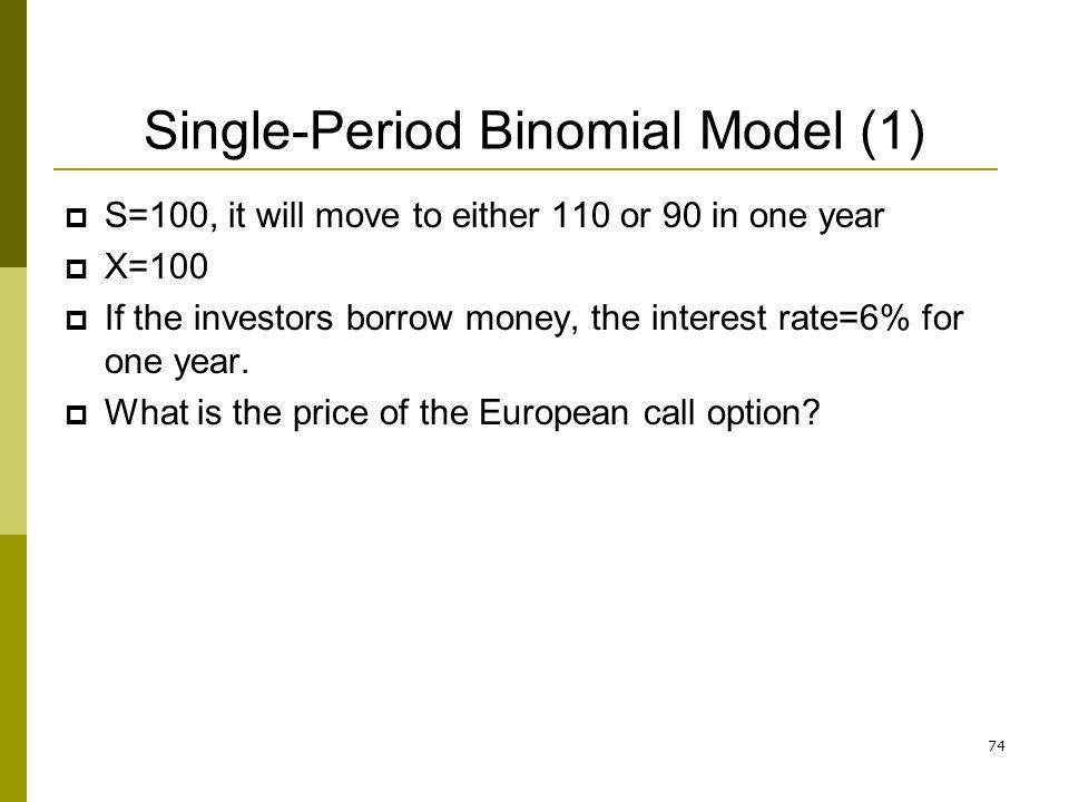 Single-Period Binomial Model (1)