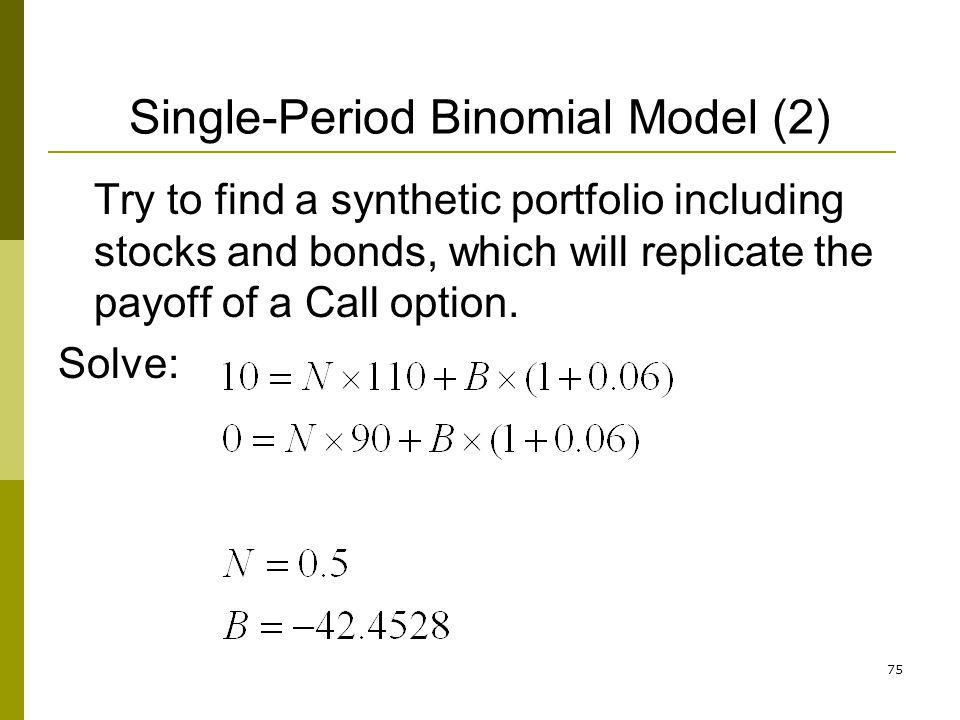 Single-Period Binomial Model (2)
