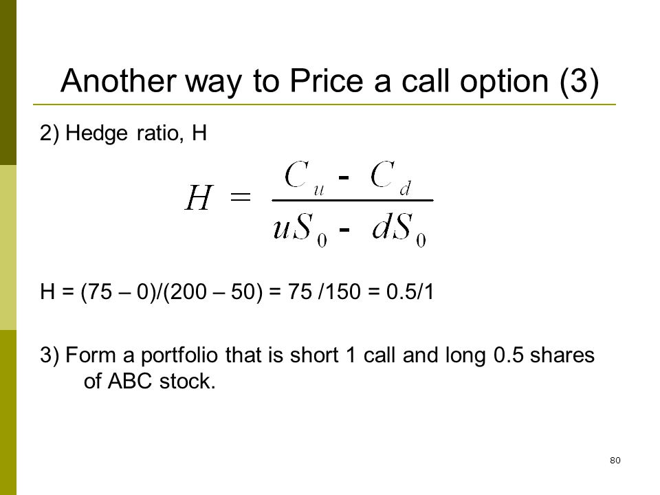 Another way to Price a call option (3)