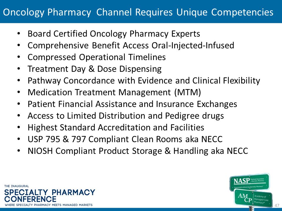Oncology Pharmacy Channel Requires Unique Competencies