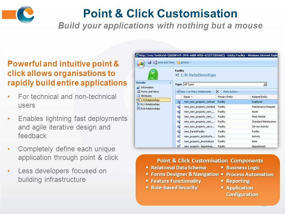Point & Click Customisation Components