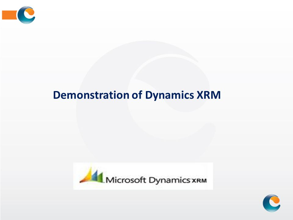 Demonstration of Dynamics XRM