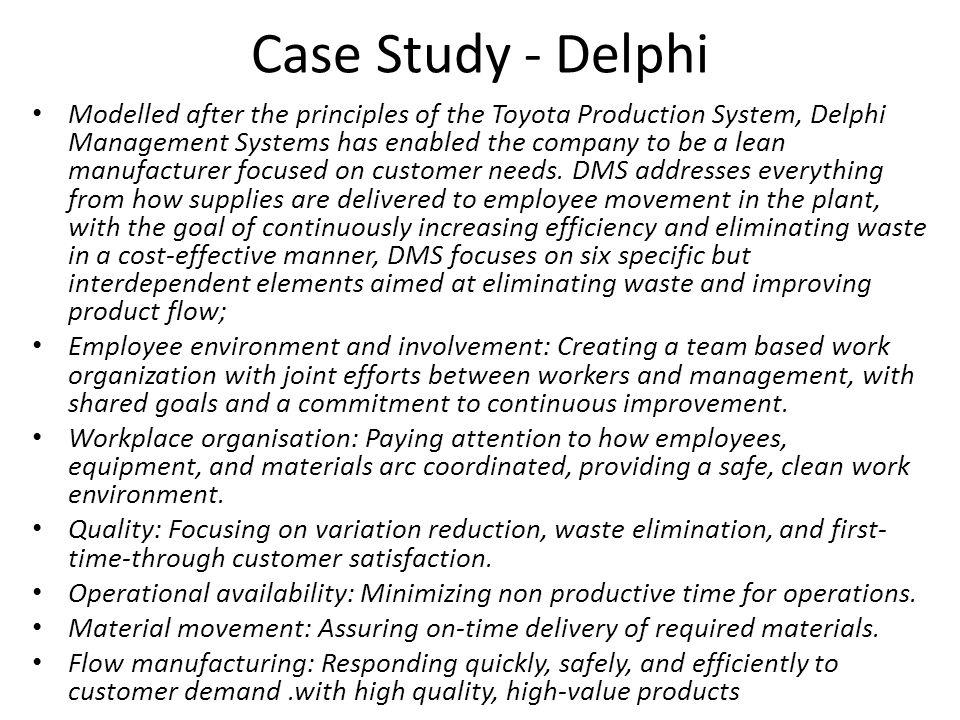 Case Study - Delphi