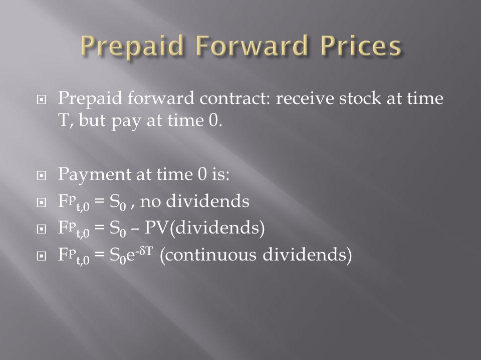 Prepaid Forward Prices