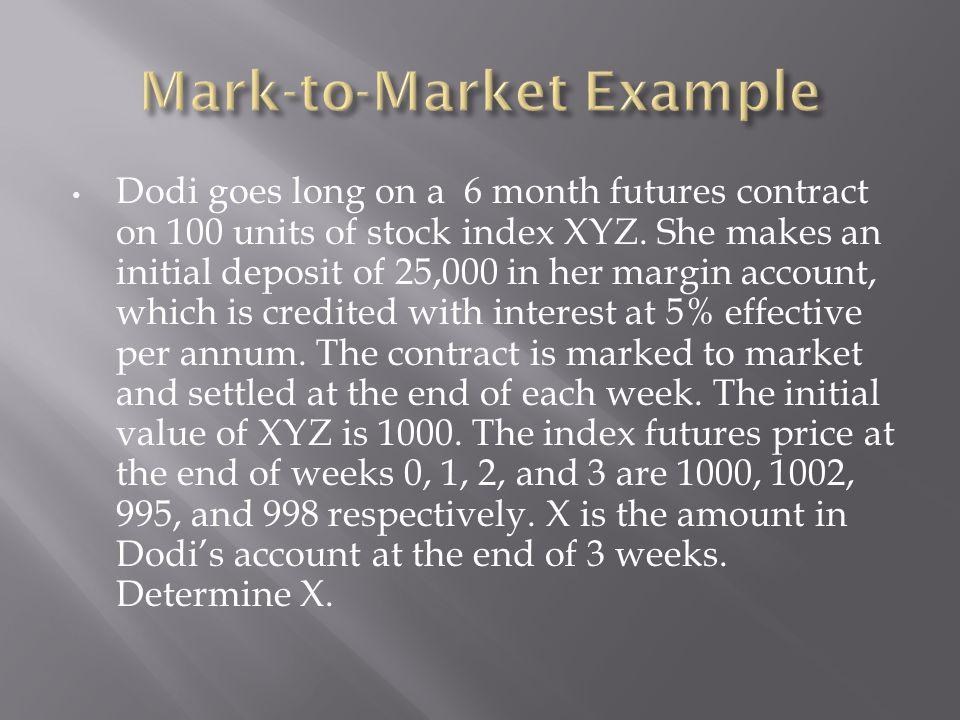 Mark-to-Market Example