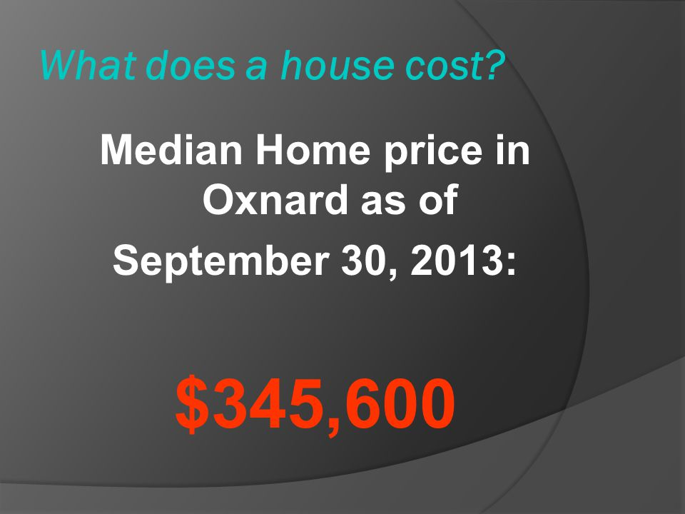 Median Home price in Oxnard as of