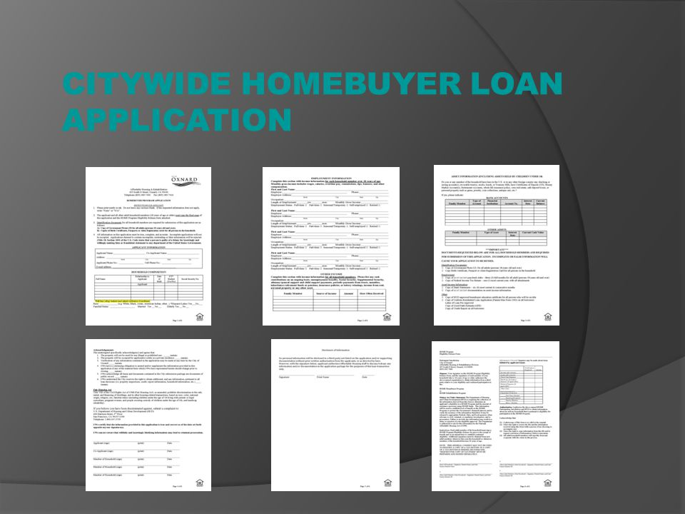 CITYWIDE HOMEBUYER LOAN APPLICATION