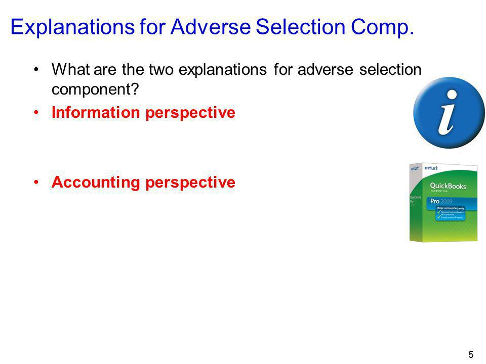 Explanations for Adverse Selection Comp.