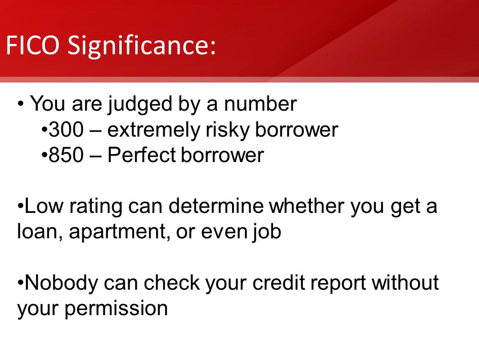 FICO Significance: You are judged by a number