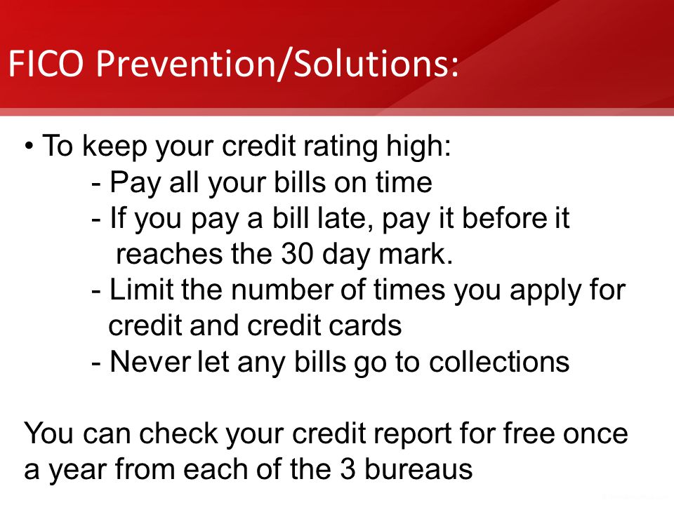 FICO Prevention/Solutions: