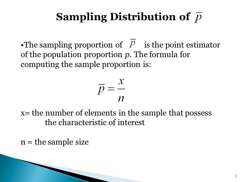 Sampling Distribution of