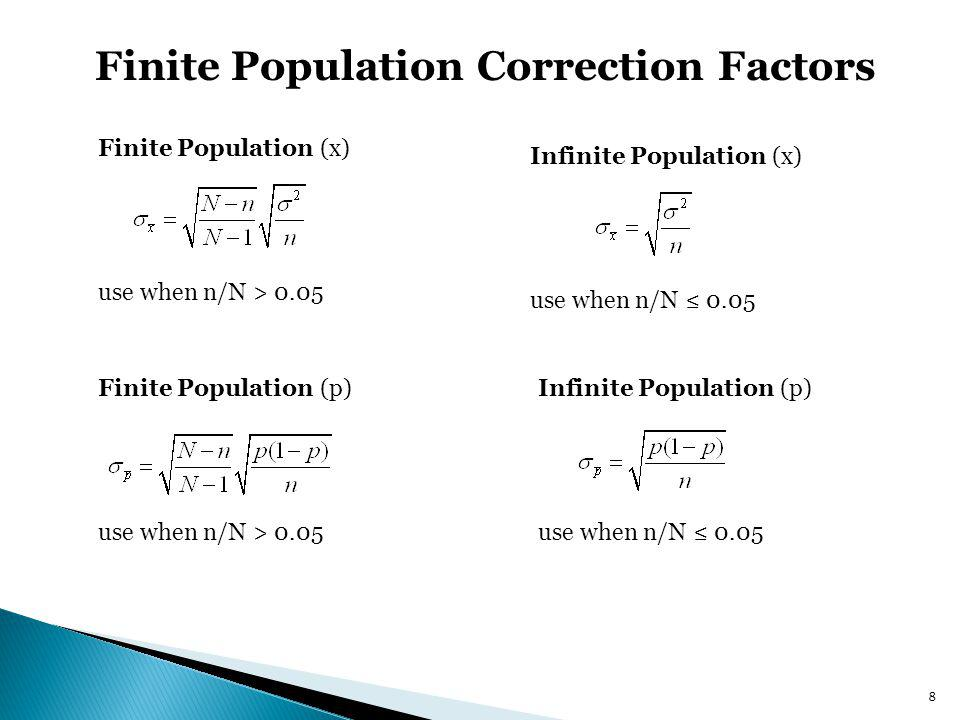Finite Population Correction Factors
